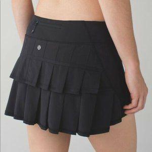 Rare  Lululemon Pace Setter Black Run Tennis Skirt